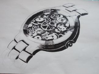 une montre et des ombres