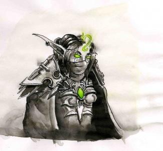 dessin de profil
